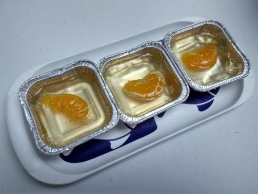 agar-agar jeruk segar.