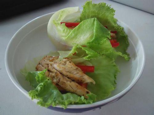 lettuce isi ayam kukus & paprika