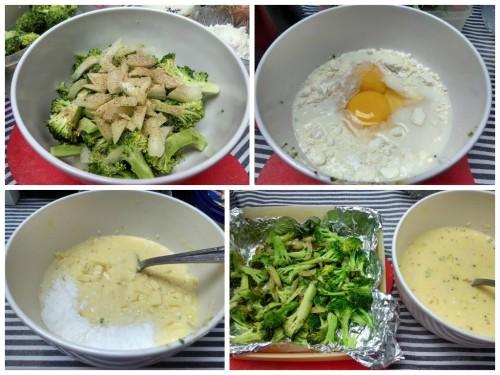 proses pembuatan quiche, campur-menyampur...