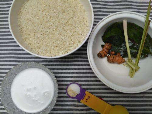 bahan dan bumbu nasi kuning